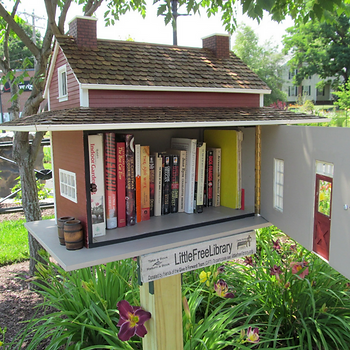 Welcome Dyslexia will donate 10% of monthly earnins to The Little Free Library