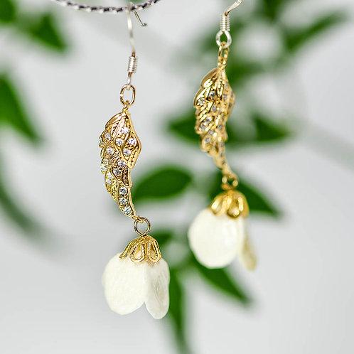 紫陽花の蕾ピアス〈シルバー〉