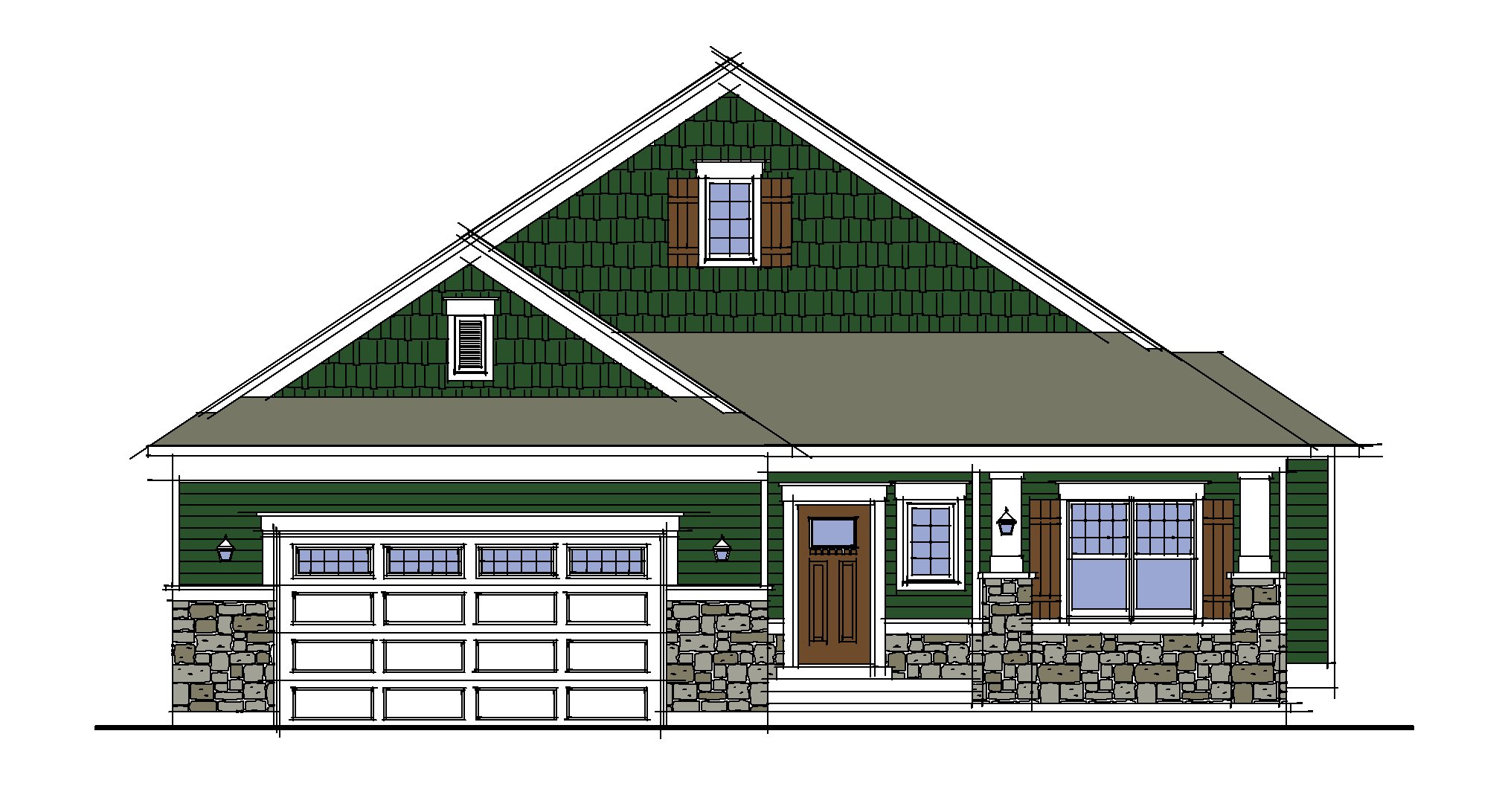 Front Elevation Rendered