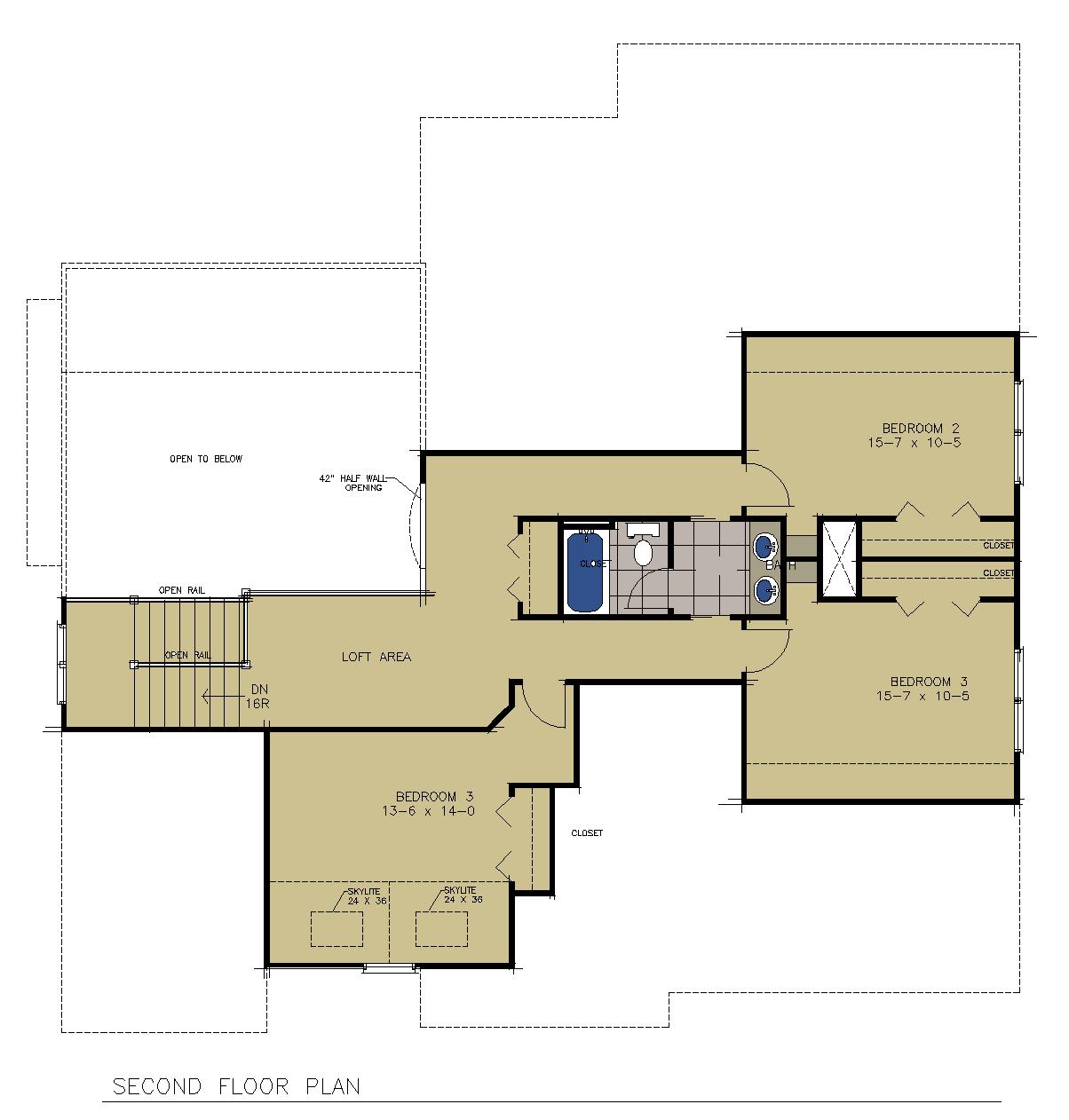 Second Floor Rendered