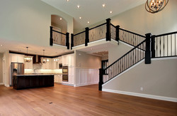 Iron Stairs and Kitchen