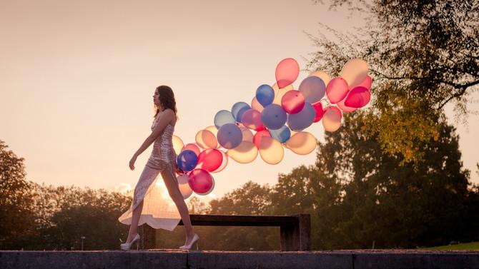 Fashionshooting mit Ballons
