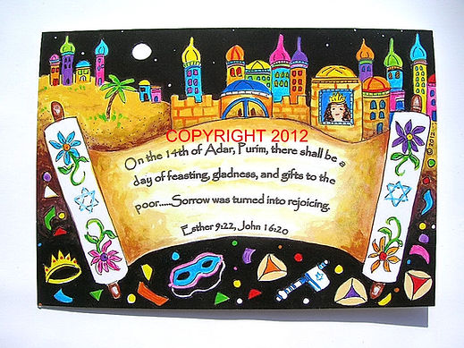Messianic purim card