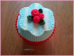 Striped Rose Cupcake