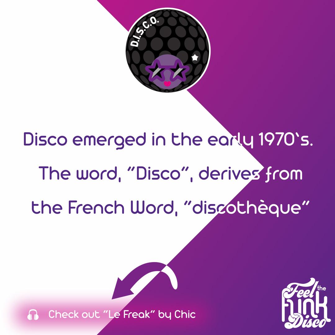 Disco emerged in 1970's