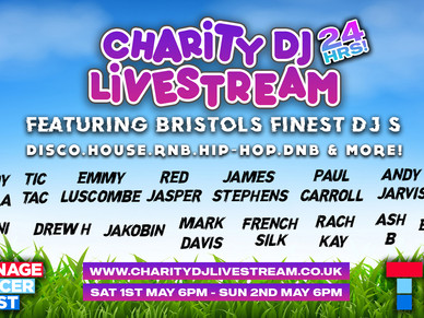 24 Hour Charity DJ Livestream, Featuring Some of Bristol's Best DJ's