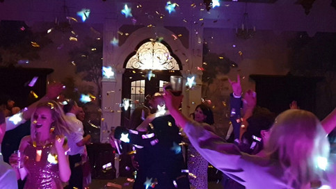 Confetti Cannons at Clevedon Hall