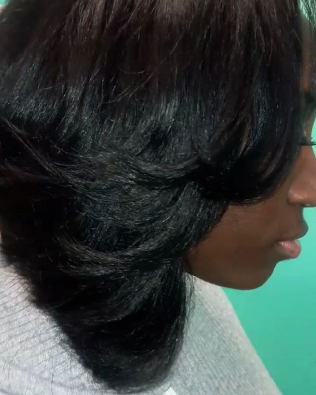 I 😍 How this Natural Traditional Sew-In #sewinweave #bobslayer#putyourselffirst🐩 #poshhairdesignz�