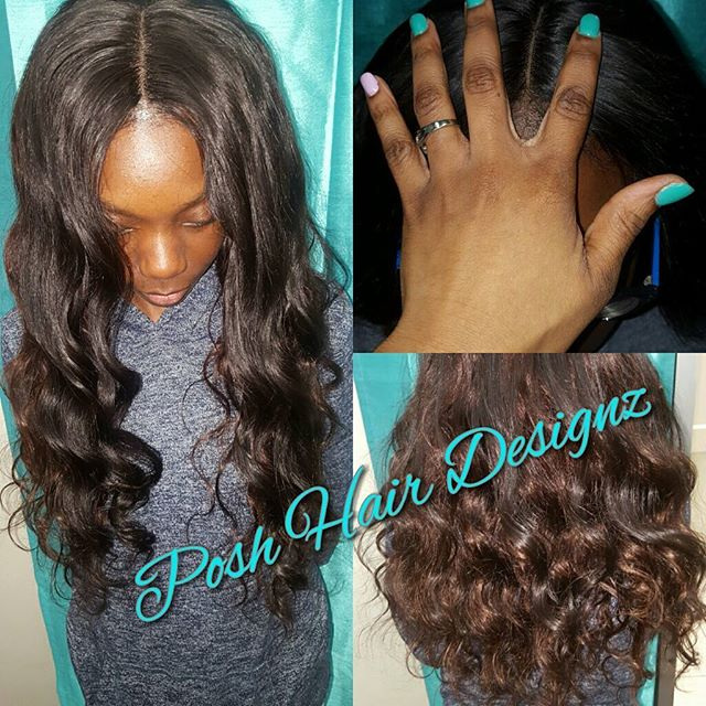 Full #sewinweave with #laceclosure #putyourselffirst #poshhairdesignz #weaveslayer #weaveslayed#weav