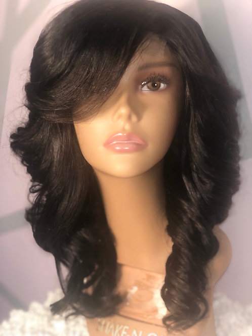 100% Human Hair Lace Part Body Wave Wig