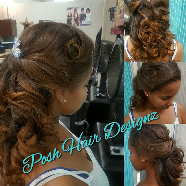 Gm #dolls 😘 Color, Silk Press, clip in extensions #dmvhairstylist#hair😆 #weddingupdo #wedding #wed