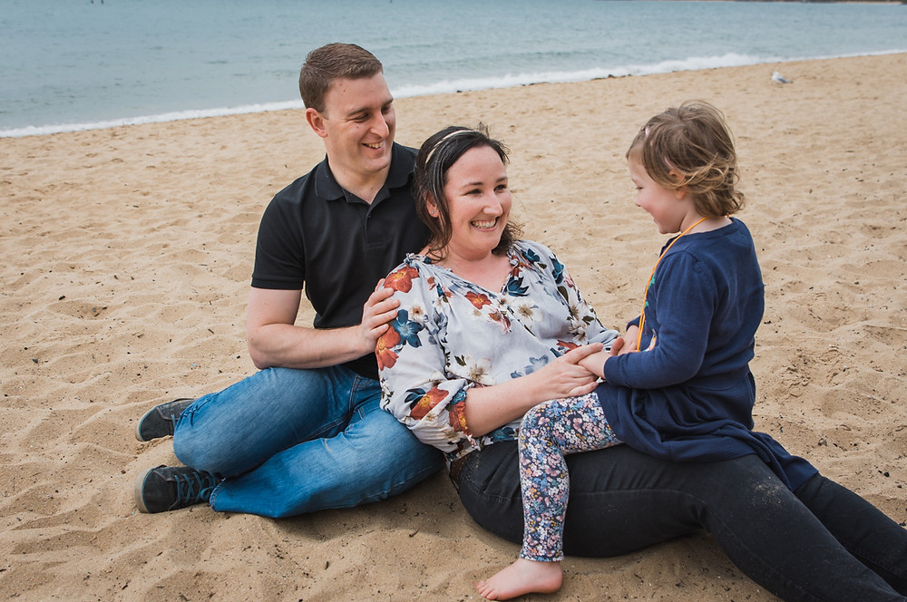 family of three - beach lifestyle session melbourne