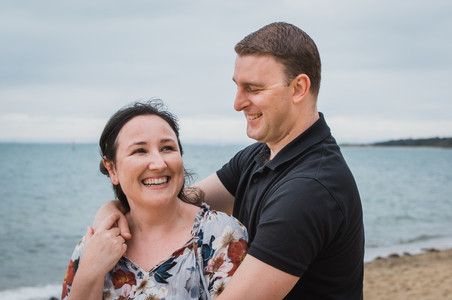 couple on the beach - melbourne lifestyle session