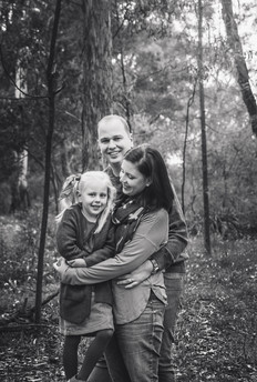 monochrome family photo of three - lifestyle photography session