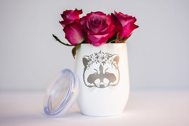 styled product photogaphy - coffee tumbler with roses
