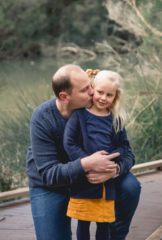 father and daughter - outdoor lifestyle photography session