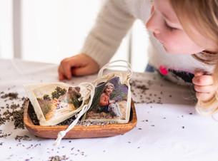 Photo Transfer – Lavender Scent Bags | Melbourne Family Photographer