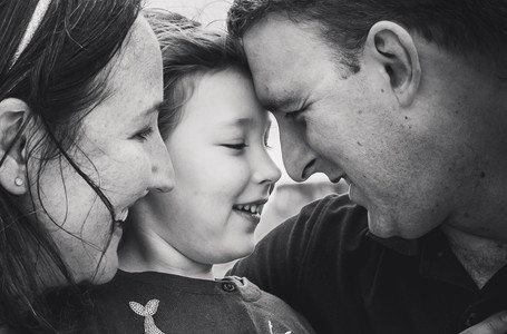 closeup of family of three - lifestyle photography