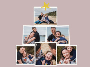Family Photograph, Christmas Card Template - Melbourne Photographer