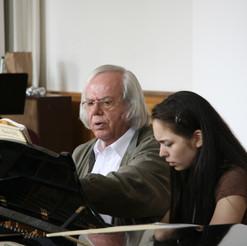 Professor Karl-Heinz Kaemmerling and Alice Sara Ott