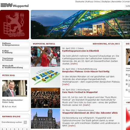 Wuppertal City Homepage