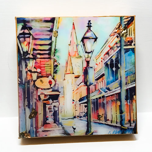 8 x 8 inch French Quarter Stroll