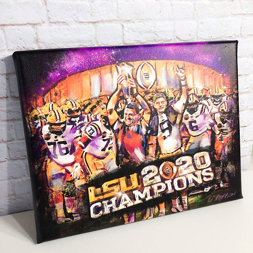 Very Limited Edition 8 x 10 LSU Champs Canvas