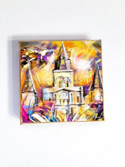 Sunny St. Louis 4 x 4 inch artwork