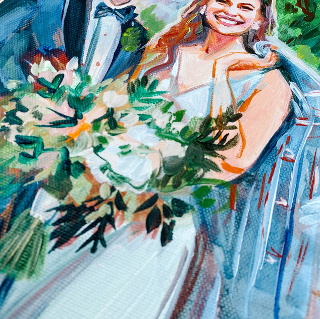 Bride and Groom Painting