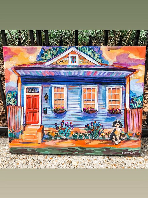 Handpainted Portrait of Your Home
