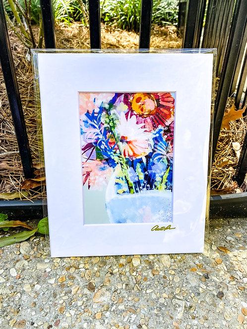 FLORAL & VINE 5 x 7 inch print in 8 x 10 matte