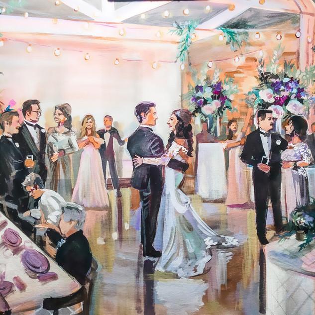 Live Wedding Painter Florida