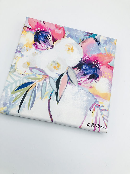 Pretty in Pink Peony 8 x 8 inches