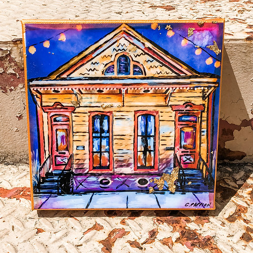 Courtyard on Conti 6 x 6 inch canvas
