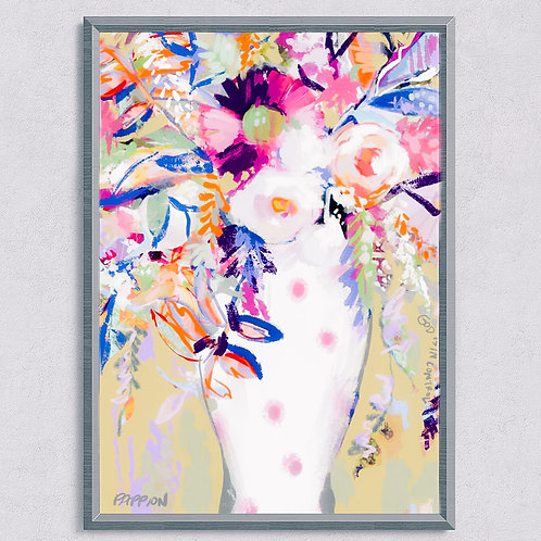 18 x 24 Paper Print of Floral & Vine