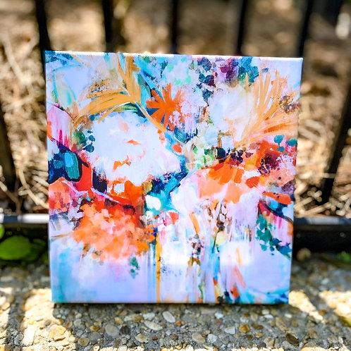 FLASH SALE Confetti Flowers -8 x 8 inch