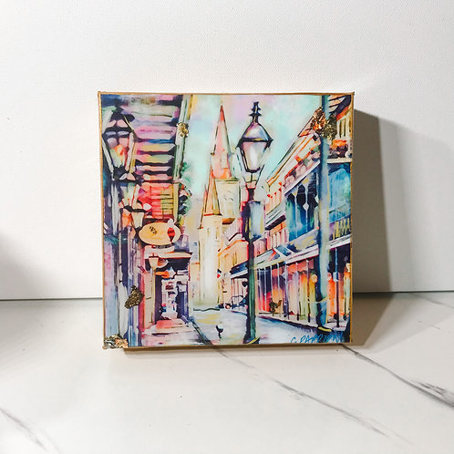 FLASH SALE French Quarter Stroll 6 x 6 inches