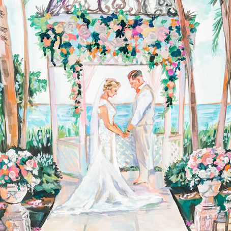 My wedding already happened before live painting was a thing. Do you happen to paint from a photos.