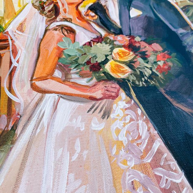 Live Wedding Portrait