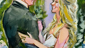 SPECIALIZING AS A LIVE WEDDING PAINTER & RECEPTION PAINTER