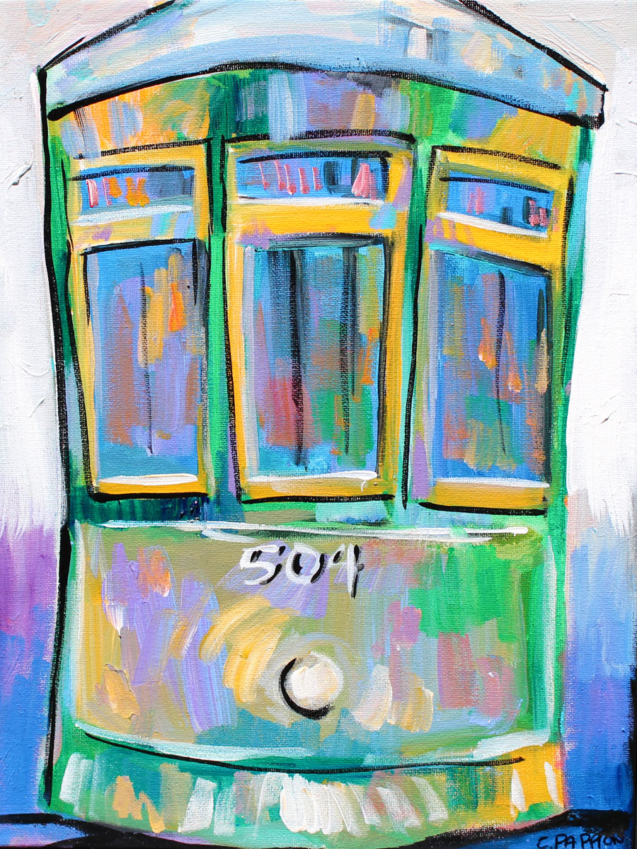 Blue streetcar