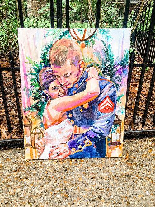 FLASH SALE Custom Handpainted Portrait 16 x 20