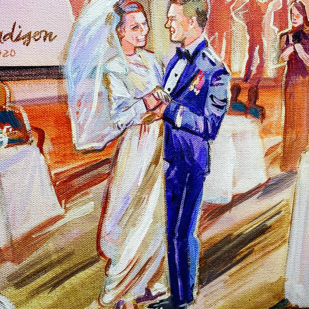 Wedding live Painter