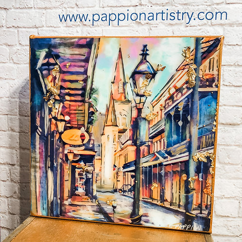 French Quarter Stroll 6 x 6 inches