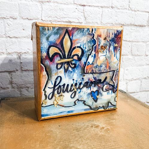 FLASH SALE Blue Bayou 4 x 4 inch Art