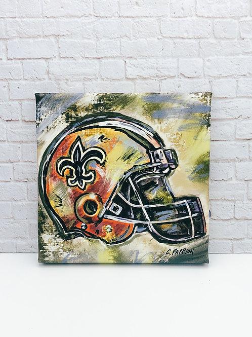 Saints helmet 8 x 8 inches