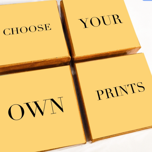 Choose your own four prints! Customize