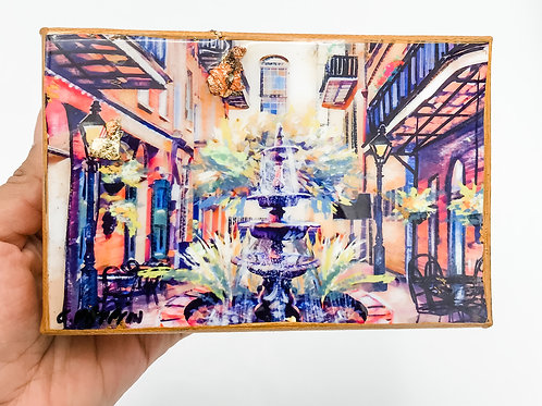 French Quarter Courtyard 4 x 6 inches