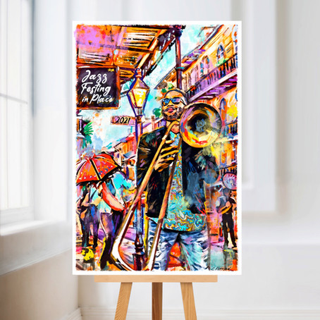 Check out the 2021 Festin in Place Poster I created to commemorate Jazz Fest!