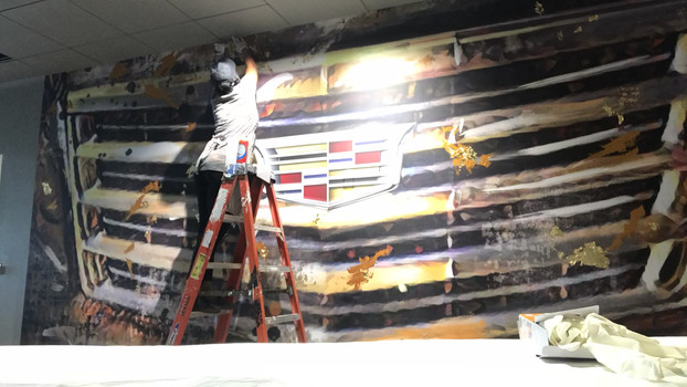 Cadillac Mural Time Lapse